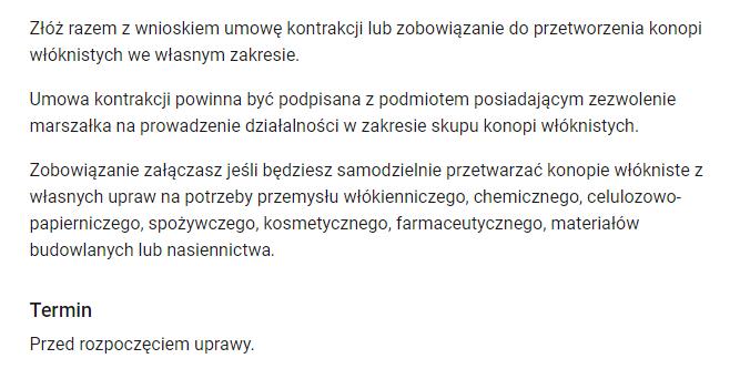 Uprawa konopi w Polsce.